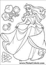 Pintar e Colorir A Bela Adormecida - Desenho 012