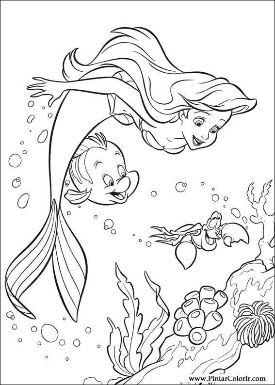 Coloring Pages Little Mermaid