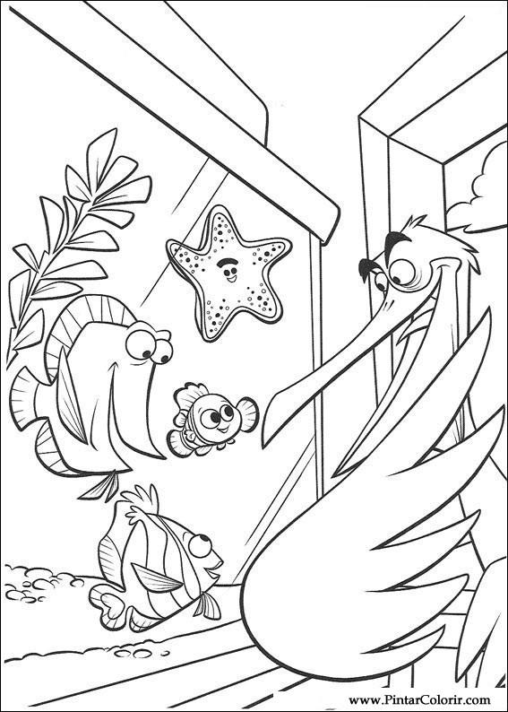 Dibujos para pintar y color buscando a nemo dise o de - Disenos para pintar ...