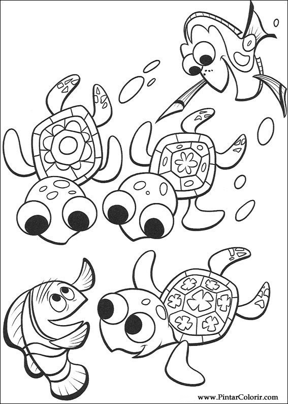 Drawings To Paint amp Colour Finding Nemo Print Design 068