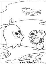Pintar e Colorir A Procura De Nemo - Desenho 005