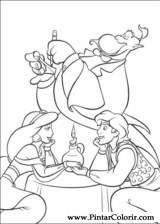Pintar e Colorir Aladino - Desenho 002