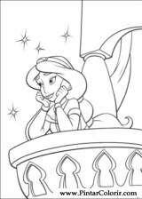 Pintar e Colorir Aladino - Desenho 005