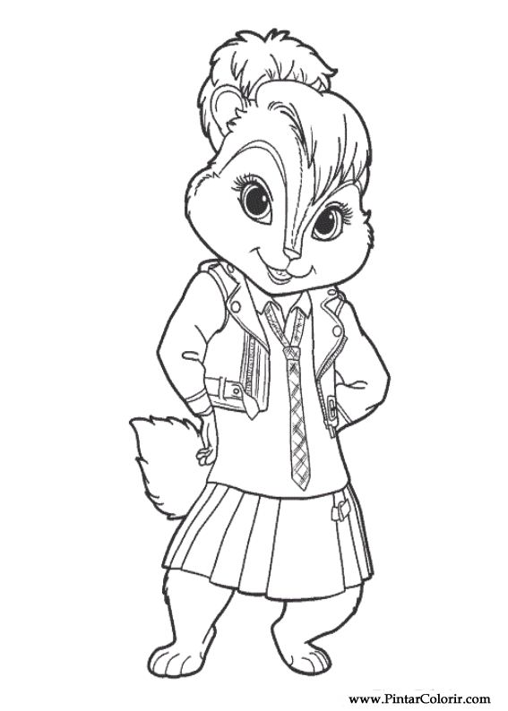 Chipmunks From Sing Coloring Pages