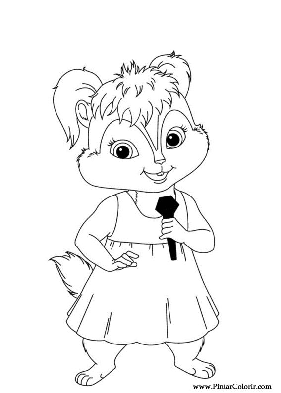 Paint colour alvin chipmunks drawing 015