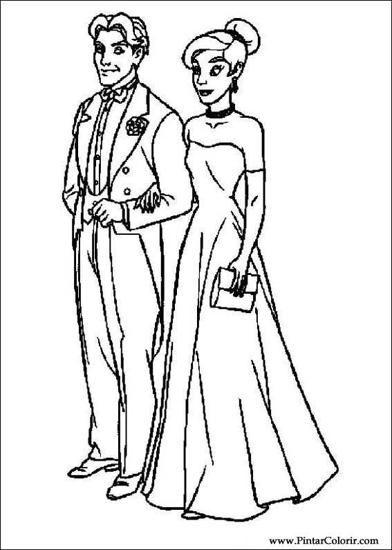 Pintar e Colorir Anastasia - Desenho 001