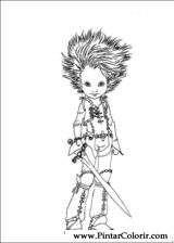 Pintar e Colorir Arthur E Os Minimoys - Desenho 001