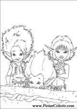 Pintar e Colorir Arthur E Os Minimoys - Desenho 003