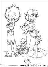 Pintar e Colorir Arthur E Os Minimoys - Desenho 005