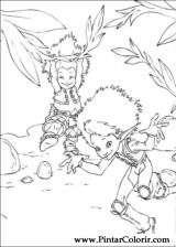 Pintar e Colorir Arthur E Os Minimoys - Desenho 006