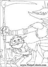 Pintar e Colorir Arthur E Os Minimoys - Desenho 008