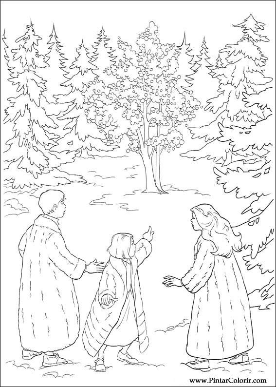 Tekeningen Te Schilderen amp Colour The Chronicles Of Narnia Print Design 006