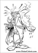 Pintar e Colorir Asterix - Desenho 006