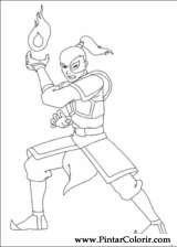 Pintar e Colorir Avatar - Desenho 024