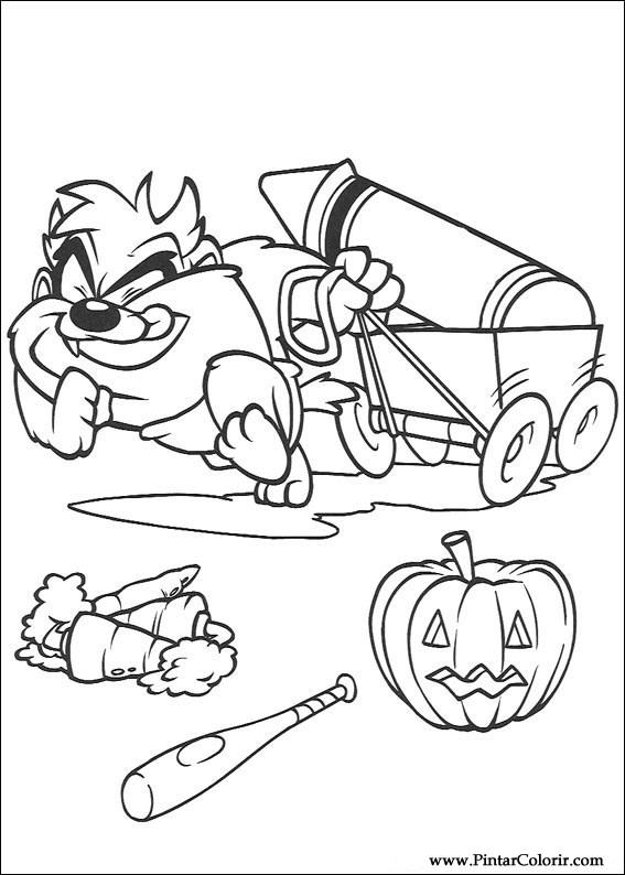 Dibujos para pintar y Color Baby Looney Tunes  Diseo de