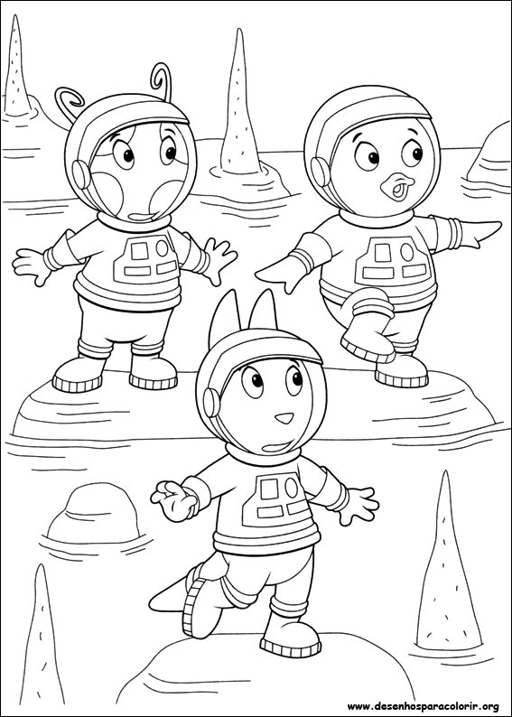 Dibujos para pintar & Colour Backyardigans - Diseño de impresión 033
