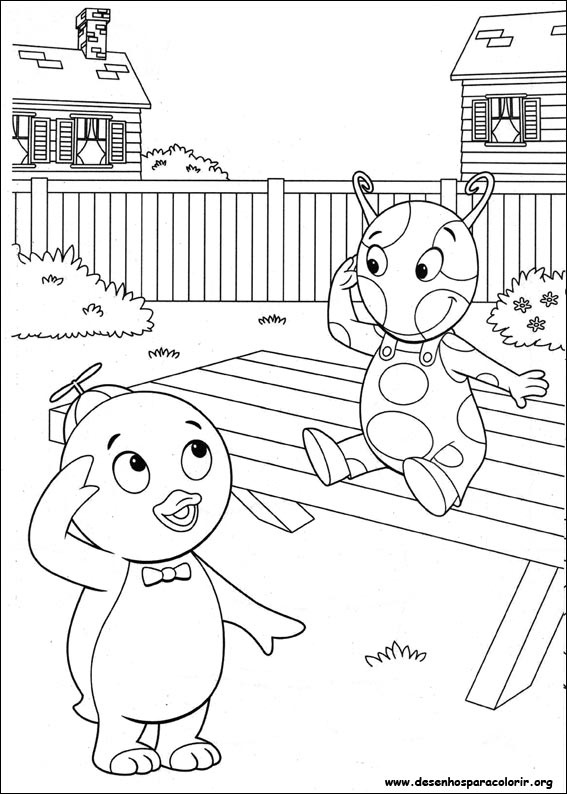 Pintar e Colorir Backyardigans - Desenho 002