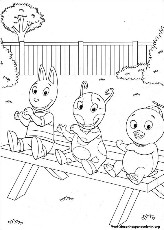 Pintar e Colorir Backyardigans - Desenho 004