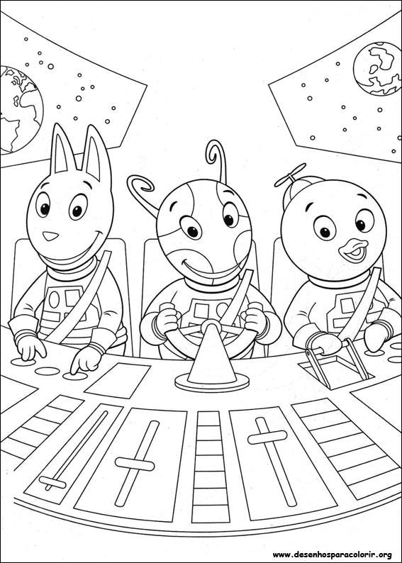 Pintar e Colorir Backyardigans - Desenho 008