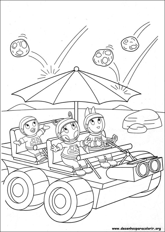 Drawings To Paint & Colour of Backyardigans - Page 3