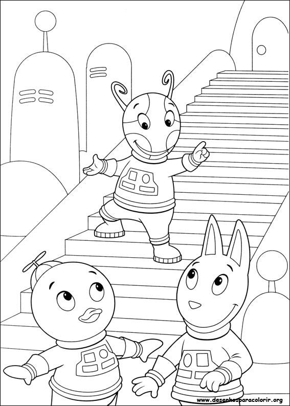 Dibujos para pintar y Color de Backyardigans - Página 5