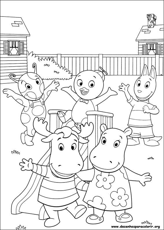 Dibujos para pintar y Color de Backyardigans - Página 6