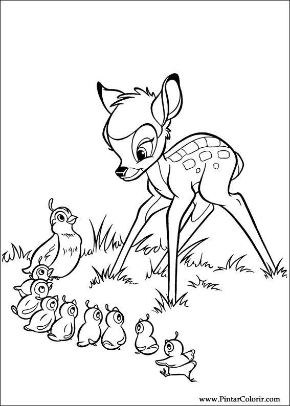 Tekeningen Te Schilderen Amp Colour Bambi 2 Print Design 021