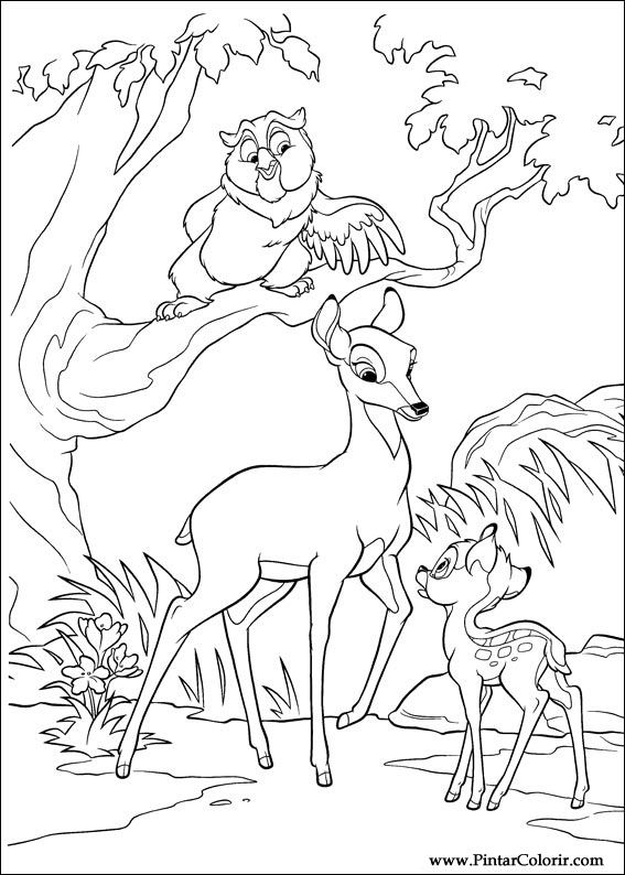 bambi 2 coloring pages - drawings to paint colour bambi 2 print design 024