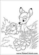 Pintar e Colorir Bambi 2 - Desenho 006