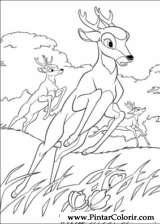 Pintar e Colorir Bambi 2 - Desenho 019