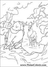 Pintar e Colorir Bambi 2 - Desenho 023