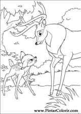 Pintar e Colorir Bambi 2 - Desenho 025