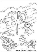 Pintar e Colorir Bambi 2 - Desenho 027
