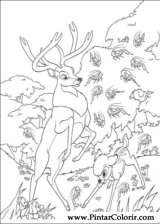 Pintar e Colorir Bambi 2 - Desenho 051