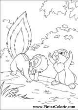 Pintar e Colorir Bambi 2 - Desenho 059