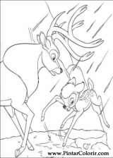 Pintar e Colorir Bambi 2 - Desenho 061
