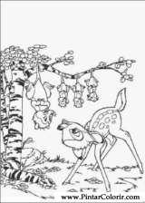 Pintar e Colorir Bambi - Desenho 003
