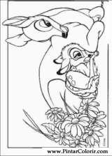 Pintar e Colorir Bambi - Desenho 006