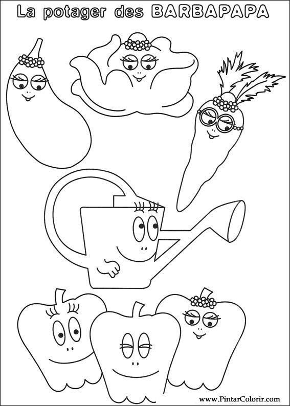 Pintar e Colorir Barbapapa - Desenho 042