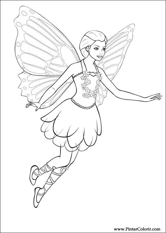 barbie mariposa coloring pages - desenhos para pintar e colorir barbie mariposa imprimir