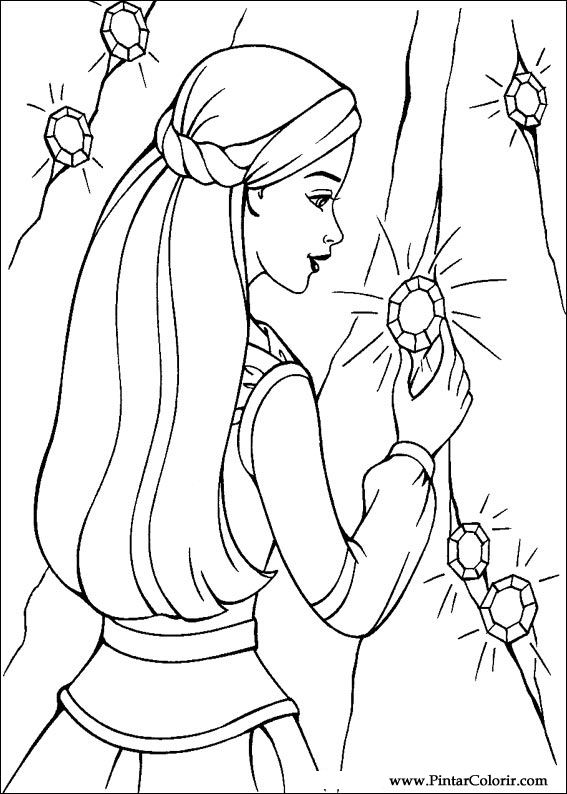 Drawings To Paint Colour Barbie Magic Pegasus Print