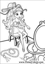Drawings To Paint Colour Barbie Thumb Print Design 027