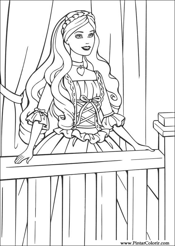 Juegos Para Pintar Barbies. Awesome Barbie Para Colorear Moda Magica ...