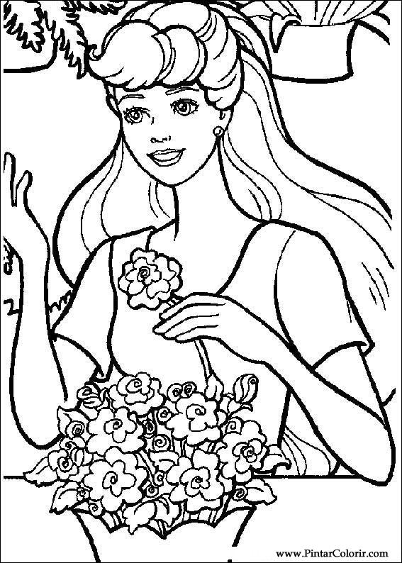 HD wallpapers barbie coloring pages paint