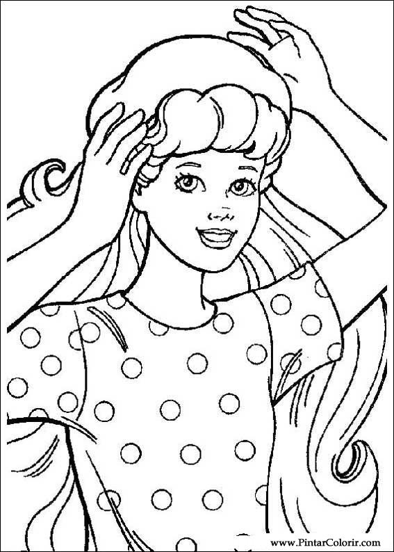 Drawings To Paint amp Colour Barbie