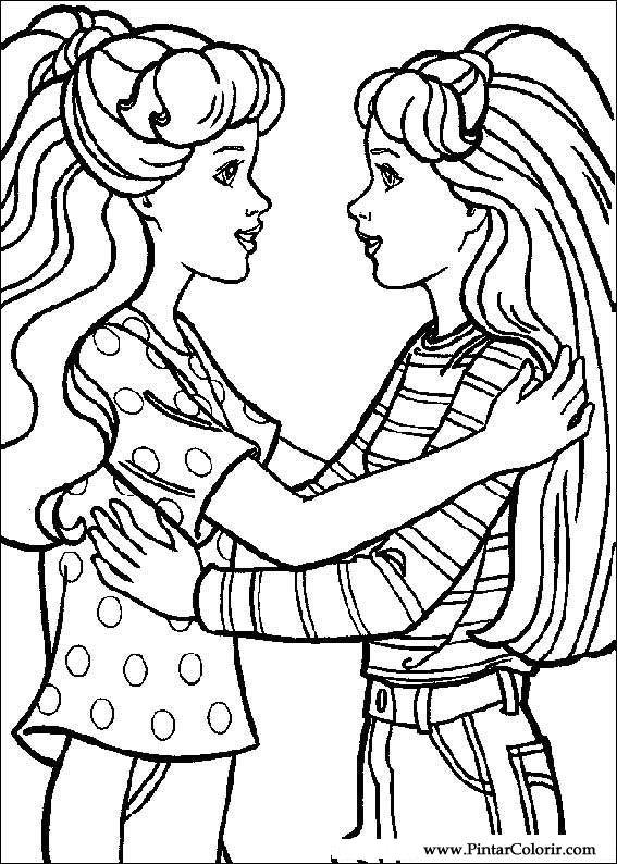 Tekeningen Te Schilderen Amp Kleur Barbie Print Design 017