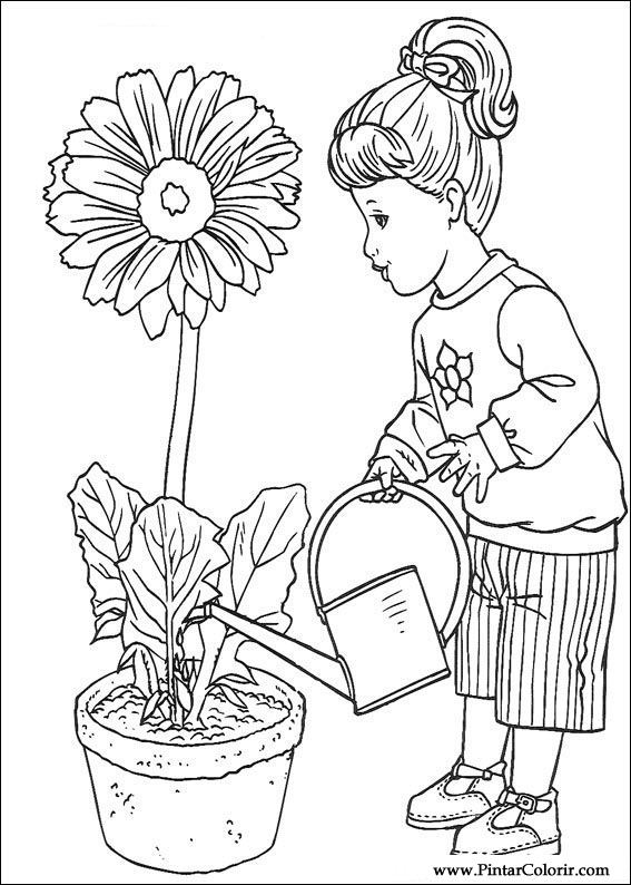 Drawings To Paint amp Colour Barbie Print Design 050
