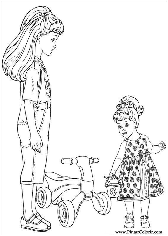 Dibujos para pintar y color barbie dise o de impresi n 057 - Disenos para pintar ...