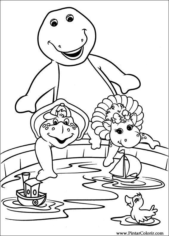 Dibujos para pintar y Color Barney - Diseño de impresión 007