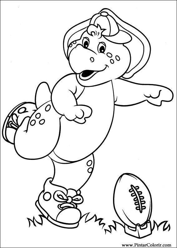 Dibujos para pintar y Color Barney - Diseño de impresión 031